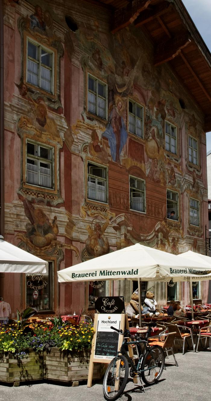 воздушная живопись Миттенвальда